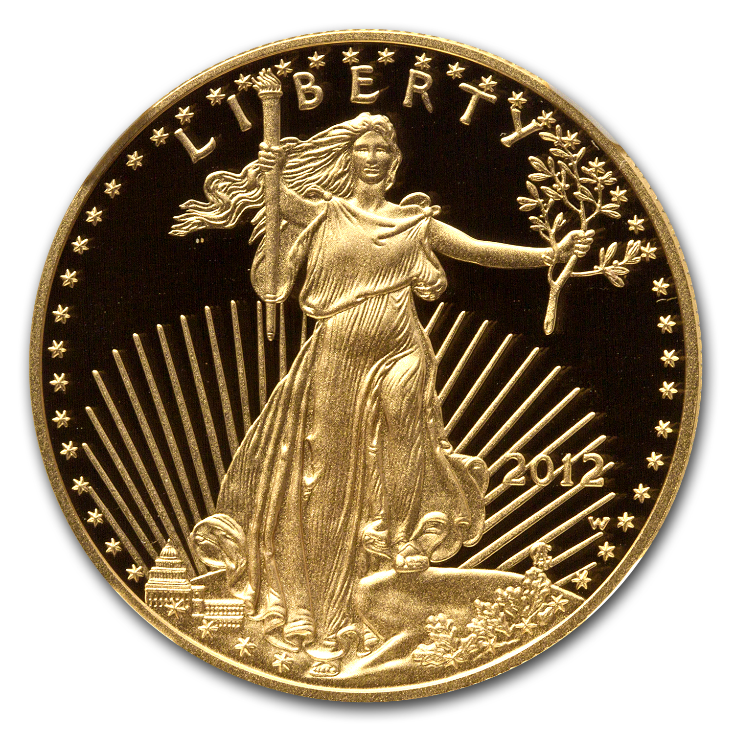 2012-W 1 oz Proof Gold American Eagle PF-70 UCAM NGC
